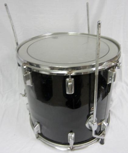 Acoustic pearl black floor tom drum 16 x 15 5 w remo for 16 floor tom drum