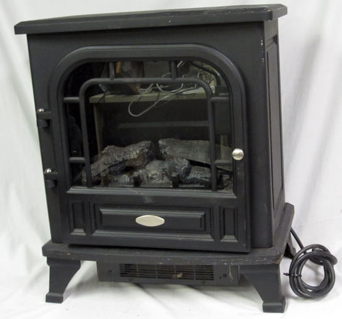 twin star cfs s505 international chimney free electric fireplace space heater ebay. Black Bedroom Furniture Sets. Home Design Ideas