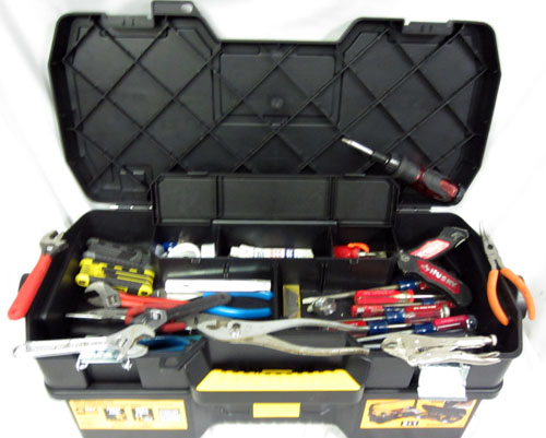 tool case with crescent sears craftsman husky tool electrician handyman set ebay. Black Bedroom Furniture Sets. Home Design Ideas