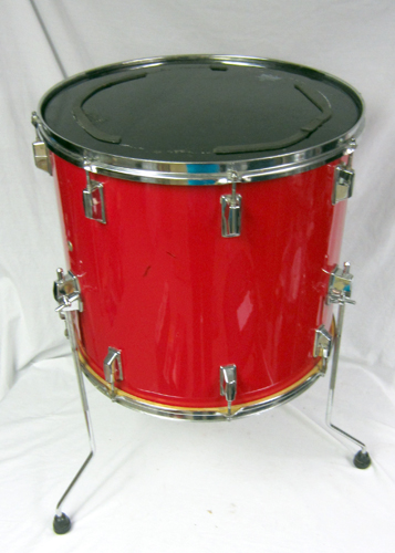 pearl export series red floor tom 17 x 18 chrome hardware remo drum head ebay. Black Bedroom Furniture Sets. Home Design Ideas