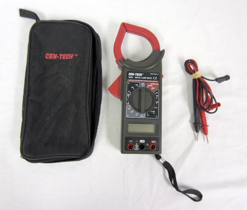 Cen Tech Digital Clamp Meter Mini : Cen tech digital clamp meter function on