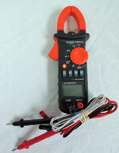 Klein Voltage Meter : Klein tools cl ac clamp a voltage meter with