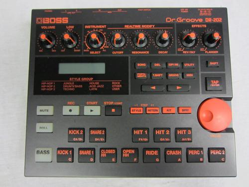 boss dr groove dr 202 programmable drum machine 256 bass drum sounds dr202 ebay. Black Bedroom Furniture Sets. Home Design Ideas