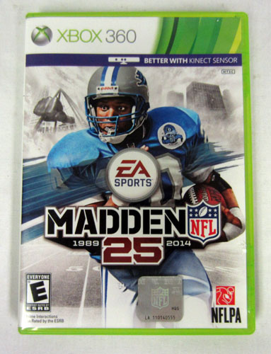 nfl 25 xbox 360 2013 video game disc booklet art case this game hasXbox 360 Game Case 2013